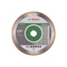 Алмазный круг 200х25.4 мм по керамике сплошн. STANDARD FOR CERAMIC BOSCH  2608602537