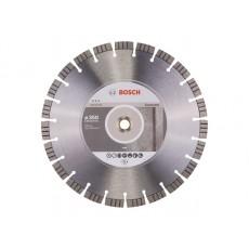 Алмазный круг 350х20/25.4 мм по бетону сегмент. Turbo BEST FOR CONCRETE BOSCH  2608602658