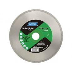 Алмазный круг 180х22.2 мм по керамике сплошн. VULCAN TILE NORTON  70184625181