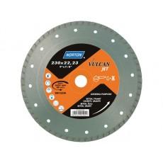 Алмазный круг 180х22.2 мм бетон/трот.плитка Turbo VULCAN JET NORTON 70184625187