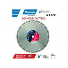 Алмазный круг 350х25.4 мм по ж/бетону сегмент. VULCAN LASER NORTON  70184630197
