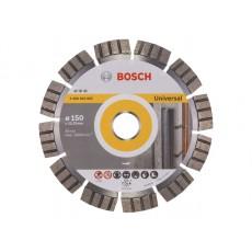 Купить в Минске Алмазный круг 150х22 мм универс. сегмент. Turbo BEST FOR UNIVERSAL BOSCH 2608602663 цена