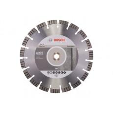Купить в Минске Алмазный круг 300х20/25.4 мм по бетону сегмент. BEST FOR CONCRETE BOSCH 2608602657 цена