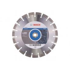 Купить в Минске Алмазный круг 300х25.4 мм по камню сегмент. Turbo BEST FOR STONE BOSCH 2608602647 цена