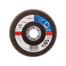 Круг лепестковый 125х22.2 мм K120 плоский EXPERT FOR METAL BOSCH 2608607356