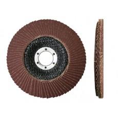 Круг лепестковый 125х22мм А120 плоский (LUGAABRASIV) 4603347337943