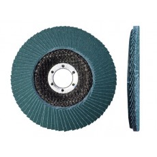 Круг лепестковый 125х22мм ZK80 ST плоский (LUGAABRASIV) 4603347072073