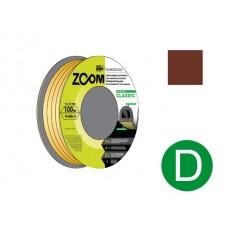 Купить в Минске Уплотнитель D коричневый 100м ZOOM CLASSIC цена