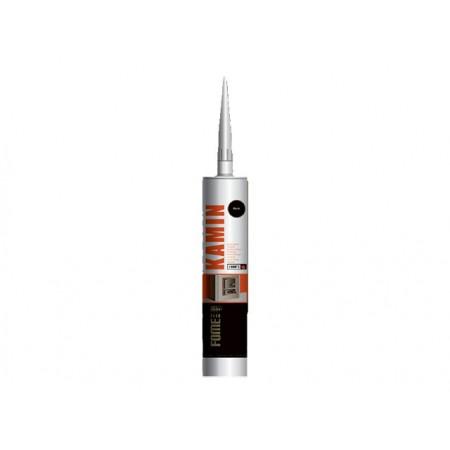 Купить в Минске Герметик силикатный высокотемпературный FOME FLEX KAMIN (черный) 300мл (+1500°С) цена