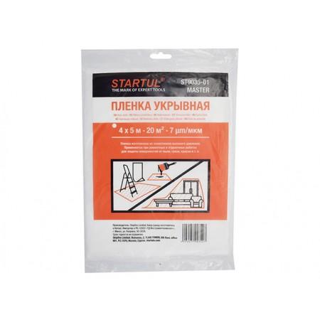 Купить в Минске Пленка укрывная 4x5 м, 7 мкм STARTUL MASTER (ST9035-01) (защитная) цена