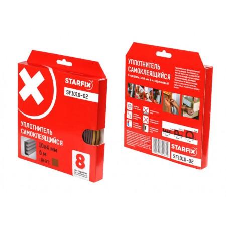 Купить в Минске Уплотнитель E коричневый 10х4мм 6м STARFIX (SF1010-02) цена