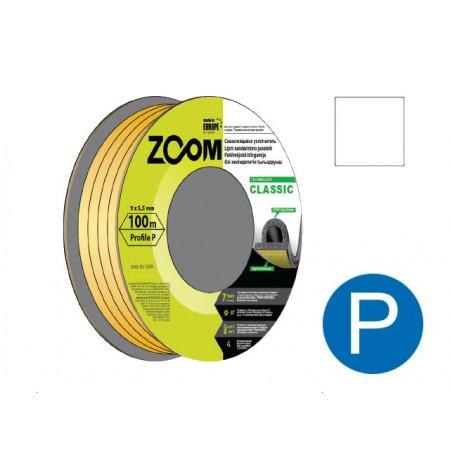 Купить в Минске Уплотнитель P белый 100м ZOOM CLASSIC цена