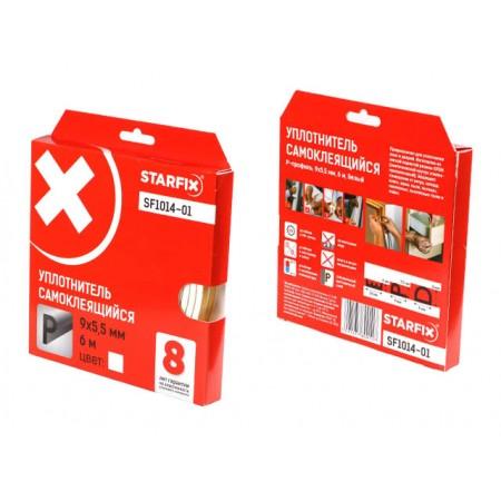 Купить в Минске Уплотнитель P белый 9х5,5мм 6м STARFIX (SF1014-01) цена