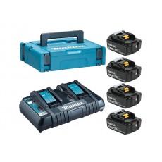 Купить в Минске Комплект аккумулятор 18.0 В BL1850B 4 шт. + зарядное устройство DC18RD (198312-4) цена