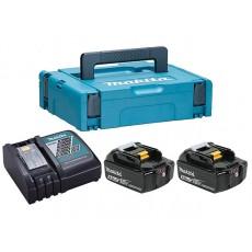 Комплект аккумулятор 18.0 В BL1850B 2 шт. + зарядное устройство DC18RC(198311-6)