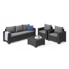 Купить в Минске Комплект мебели KETER California 3 Seater, графит цена