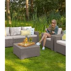 Купить в Минске Комплект мебели KETER California 3 Seater, капучино цена