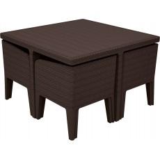 Купить в Минске Комплект мебели KETER Columbia dining set (5 предметов), коричневый цена