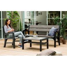 Купить в Минске Комплект мебели MONTERO WLF Bench set (диван, 2кресла, столик), серый цена