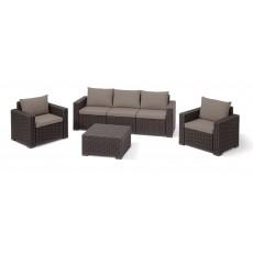 Купить в Минске Комплект мебели KETER California 3 Seater, коричневый цена