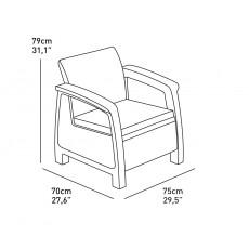 Комплект мебели Corfu Duo Set (Корфу Дуо Сэт), бежевый