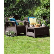 Купить в Минске Комплект мебели Corfu Weekend Set (2 кресла+столик), коричневый цена