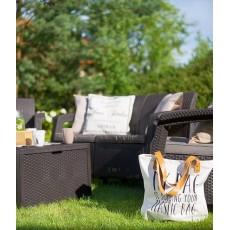 Комплект мебели Corfu Box Set (2 кресла, 1 скамья+столик), коричневый