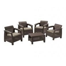 Купить в Минске Комплект мебели Corfu quattro set, коричневый цена
