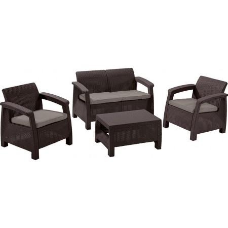 Купить в Минске Комплект мебели Corfu Set в стиле Ротанг, цвет темно-коричневый цена