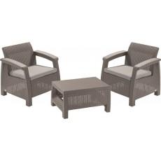 Купить в Минске Комплект мебели Corfu Weekend Set (2 кресла+столик), песочный цена