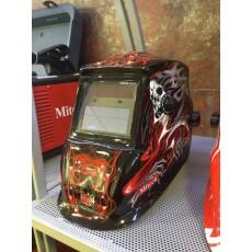 Купить в Минске Маска сварочная Mitech Red Skull цена