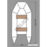 Купить в Минске Надувная лодка ПВХ под мотор MIRASOL ГЕЛИОС-31М цена