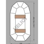 Купить в Минске Надувная гребная лодка ПВХ Гелиос-27 цена