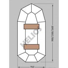 Купить в Минске Надувная гребная лодка ПВХ MIRASOL ГЕЛИОС-23 цена