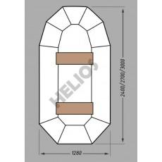 Купить в Минске Надувная гребная лодка ПВХ MIRASOL ГЕЛИОС-24 цена